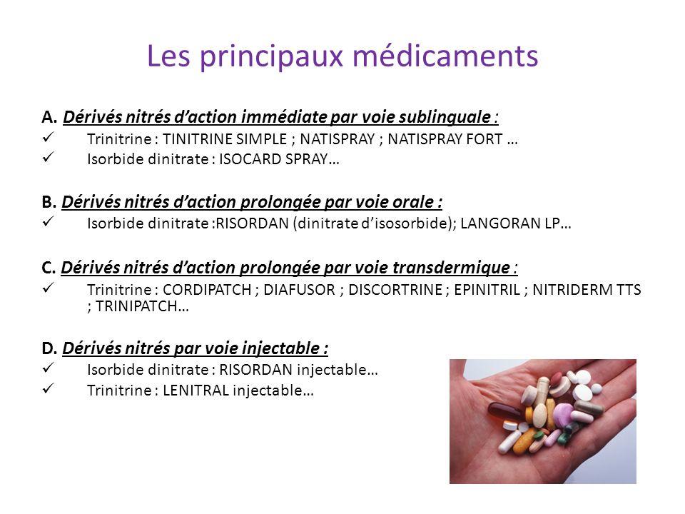 Les principaux médicaments
