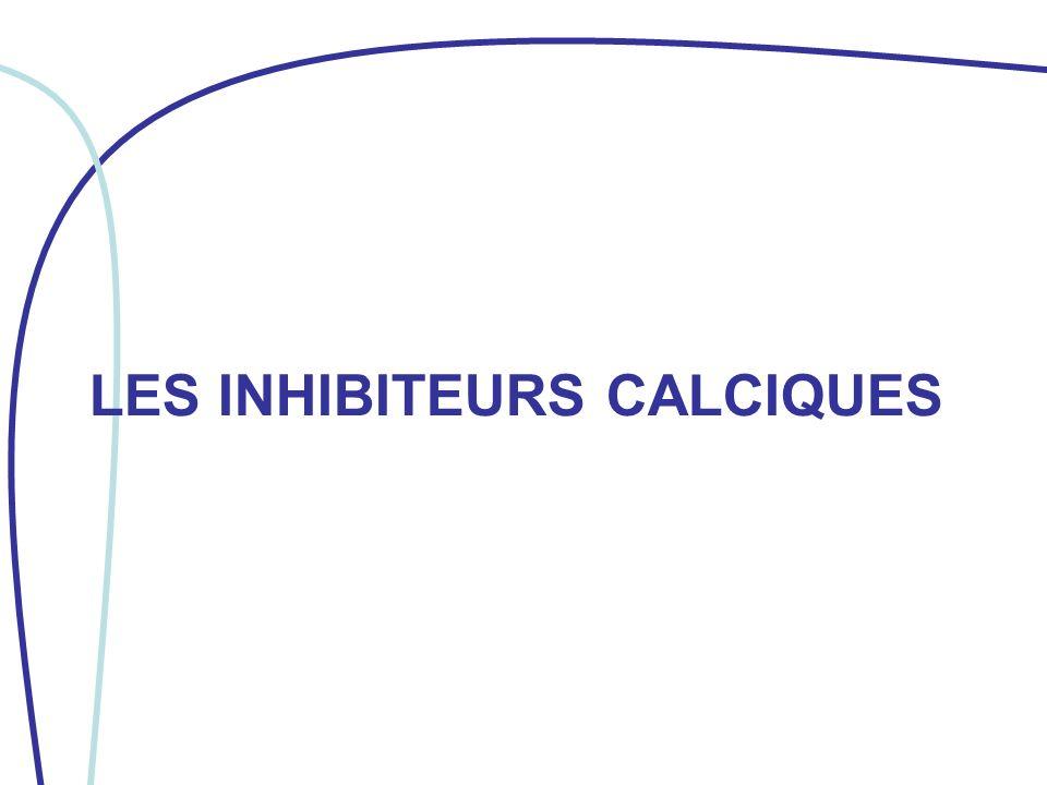 LES INHIBITEURS CALCIQUES