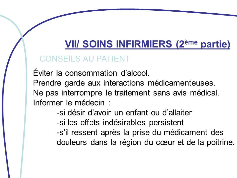 VII/ SOINS INFIRMIERS (2ème partie)