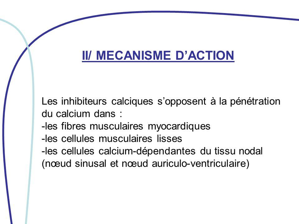 II/ MECANISME D'ACTION