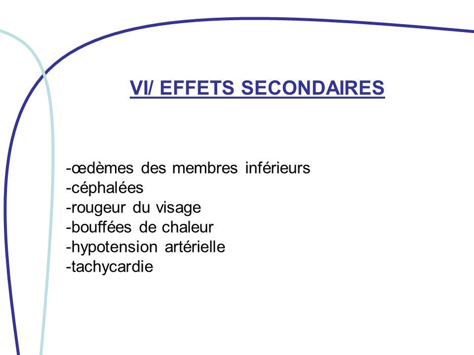 VI/ EFFETS SECONDAIRES