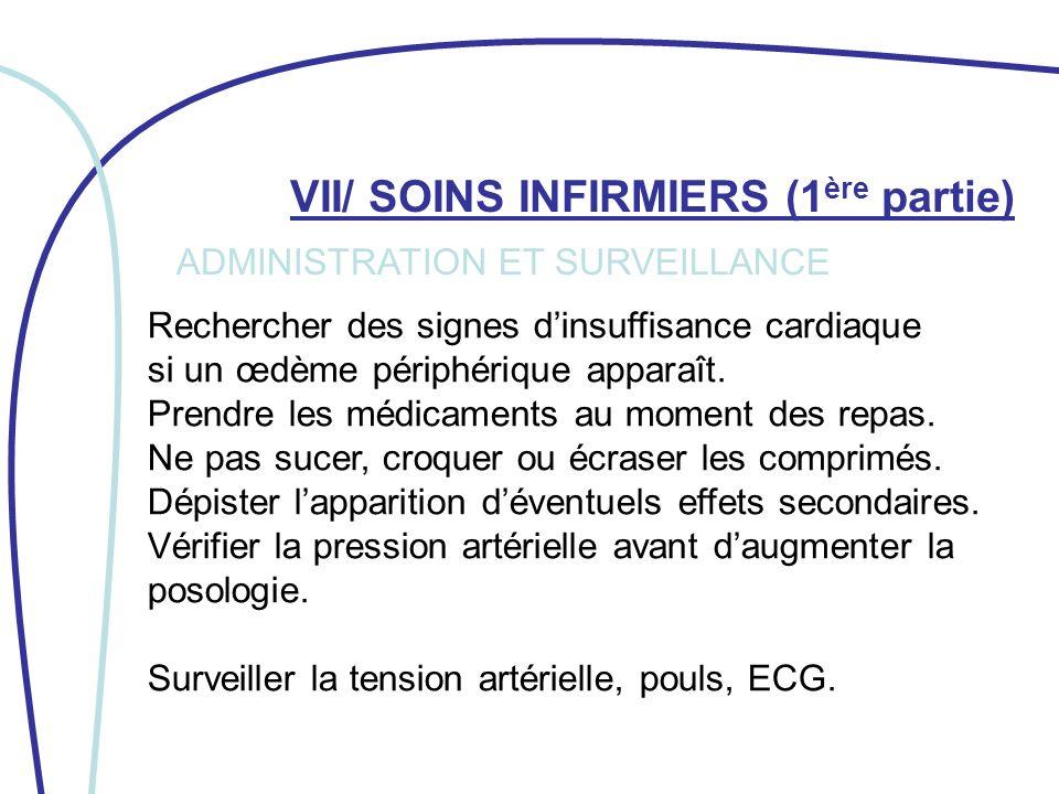 VII/ SOINS INFIRMIERS (1ère partie)