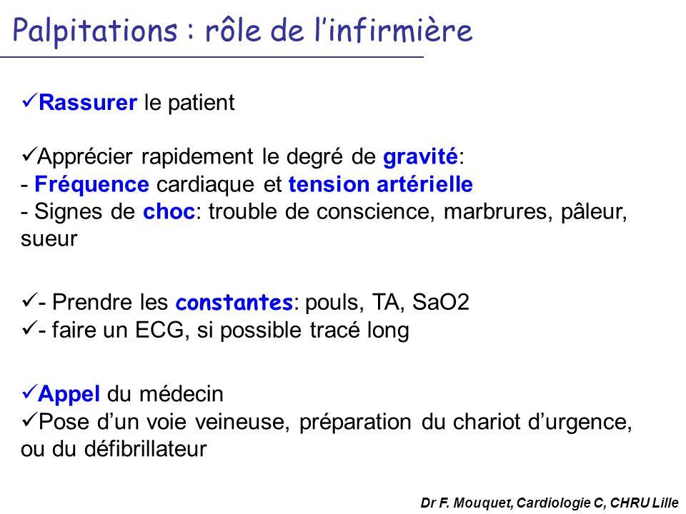 Palpitations : rôle de l'infirmière