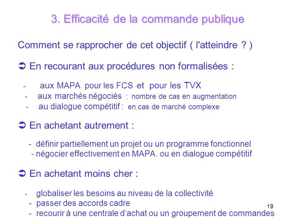 3. Efficacité de la commande publique