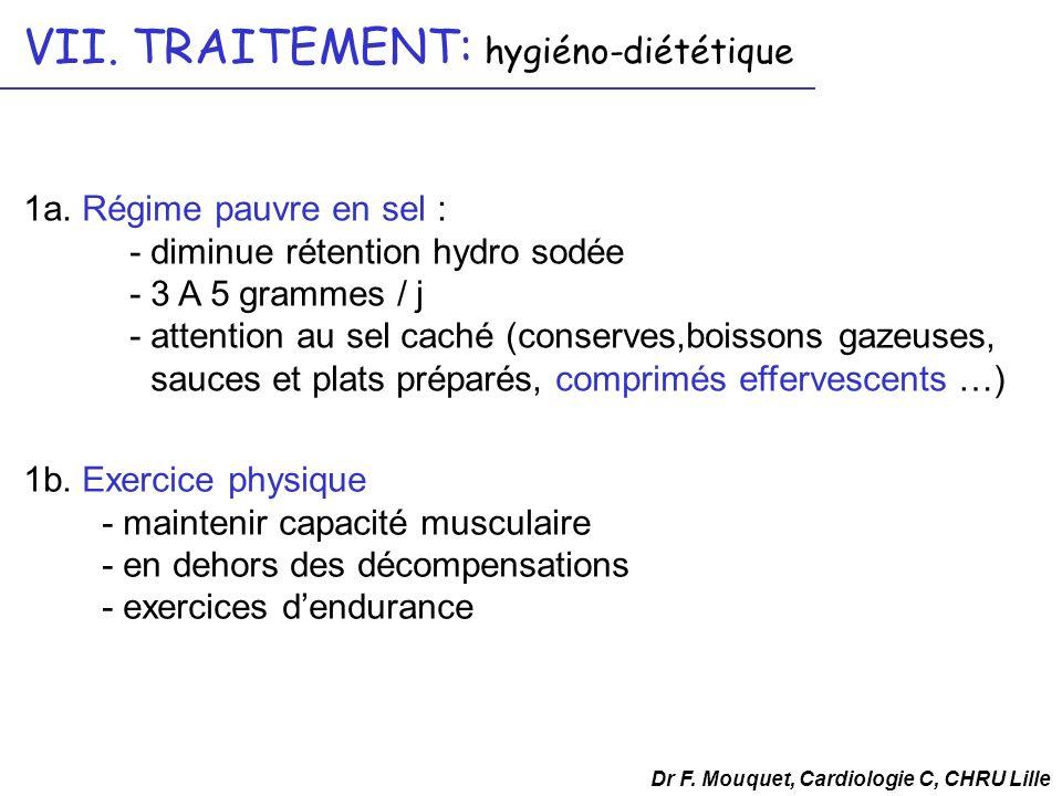 VII. TRAITEMENT: hygiéno-diététique