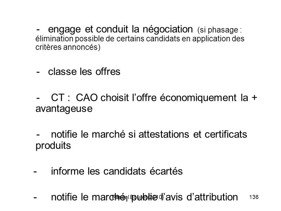 - CT : CAO choisit l'offre économiquement la + avantageuse