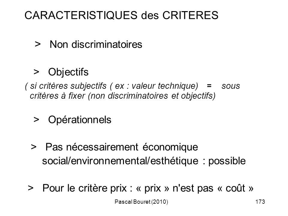 > Non discriminatoires