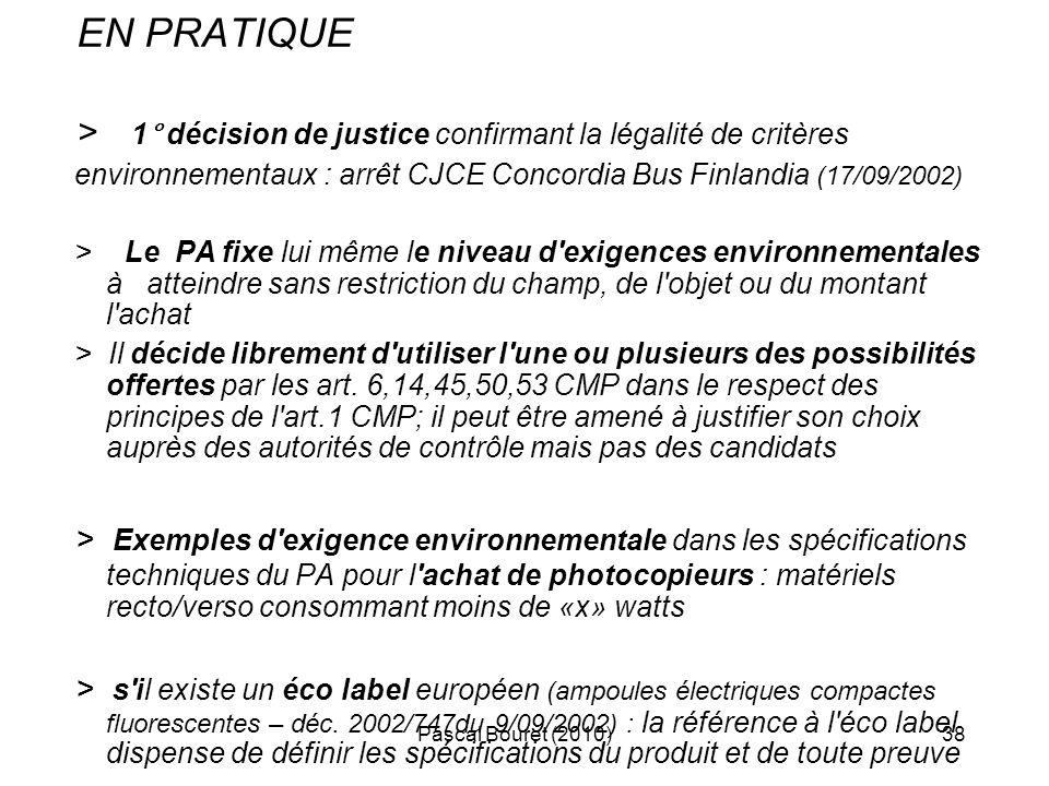 > 1° décision de justice confirmant la légalité de critères