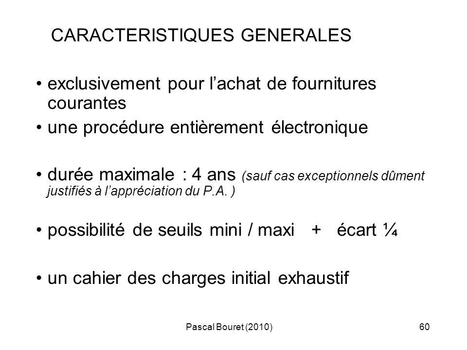 CARACTERISTIQUES GENERALES