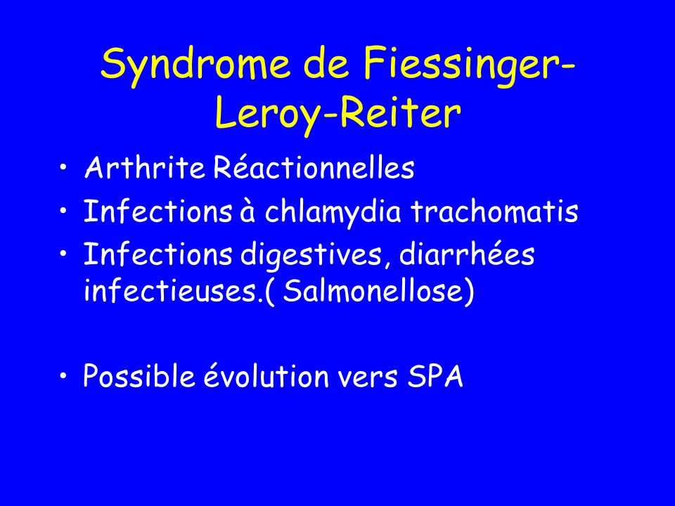 Syndrome de Fiessinger-Leroy-Reiter