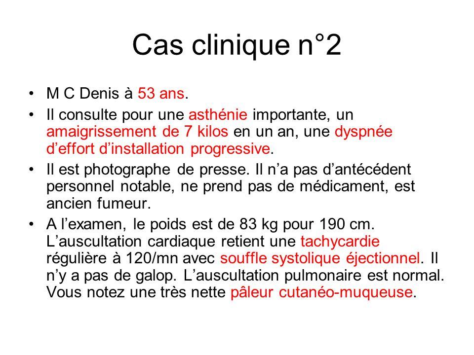 Cas clinique n°2 M C Denis à 53 ans.