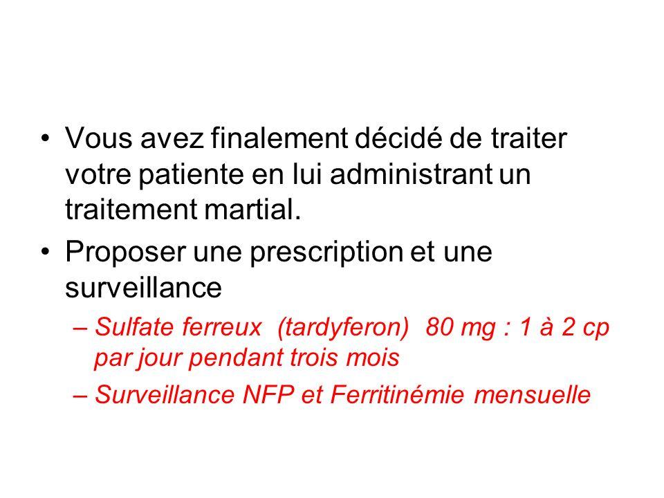 Proposer une prescription et une surveillance