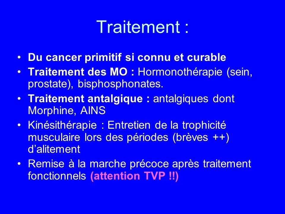 Traitement : Du cancer primitif si connu et curable