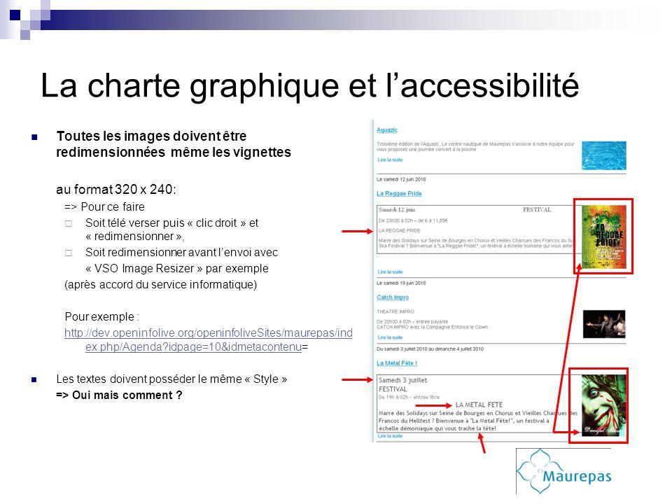 La charte graphique et l'accessibilité