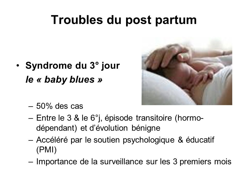 Troubles du post partum