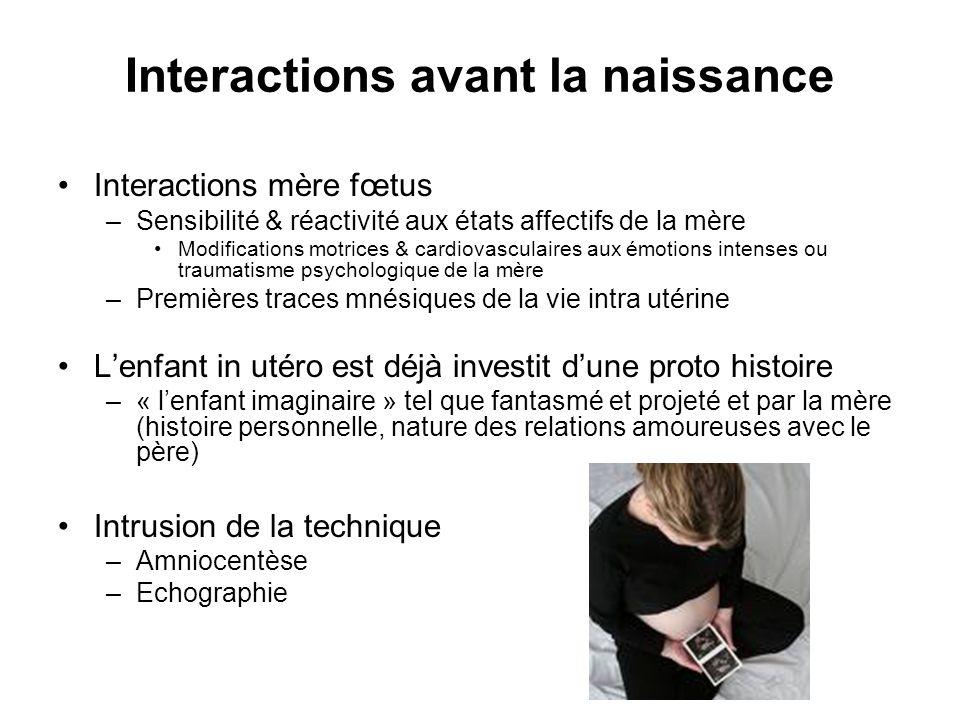 Interactions avant la naissance