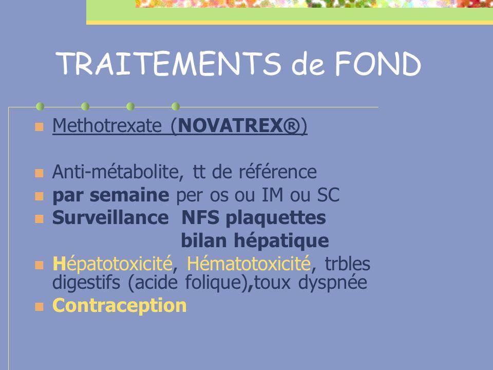 TRAITEMENTS de FOND Methotrexate (NOVATREX®)