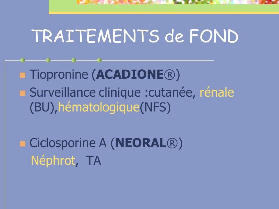 TRAITEMENTS de FOND Tiopronine (ACADIONE®)