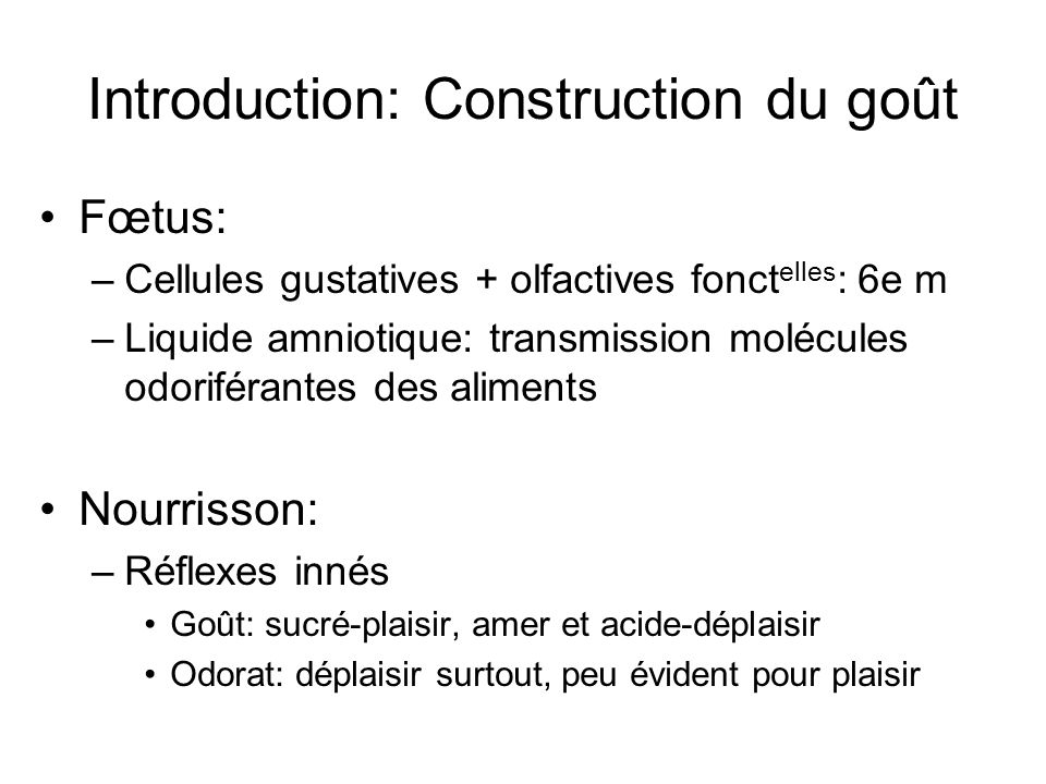Introduction: Construction du goût