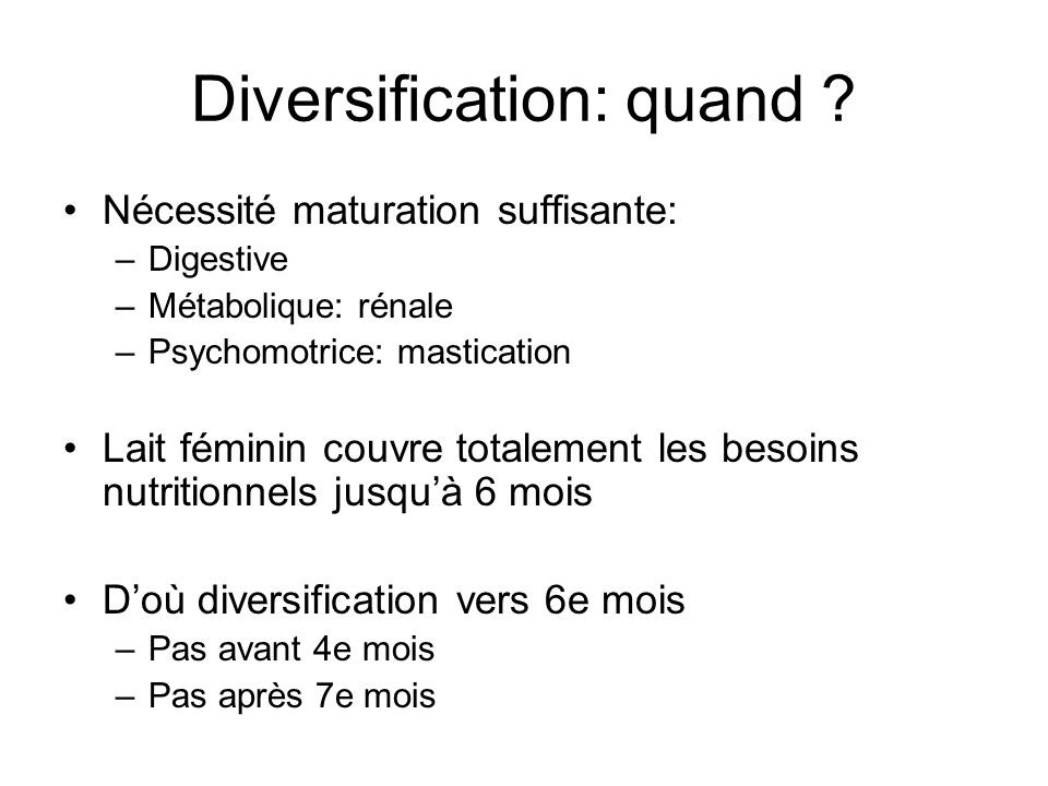 Diversification: quand
