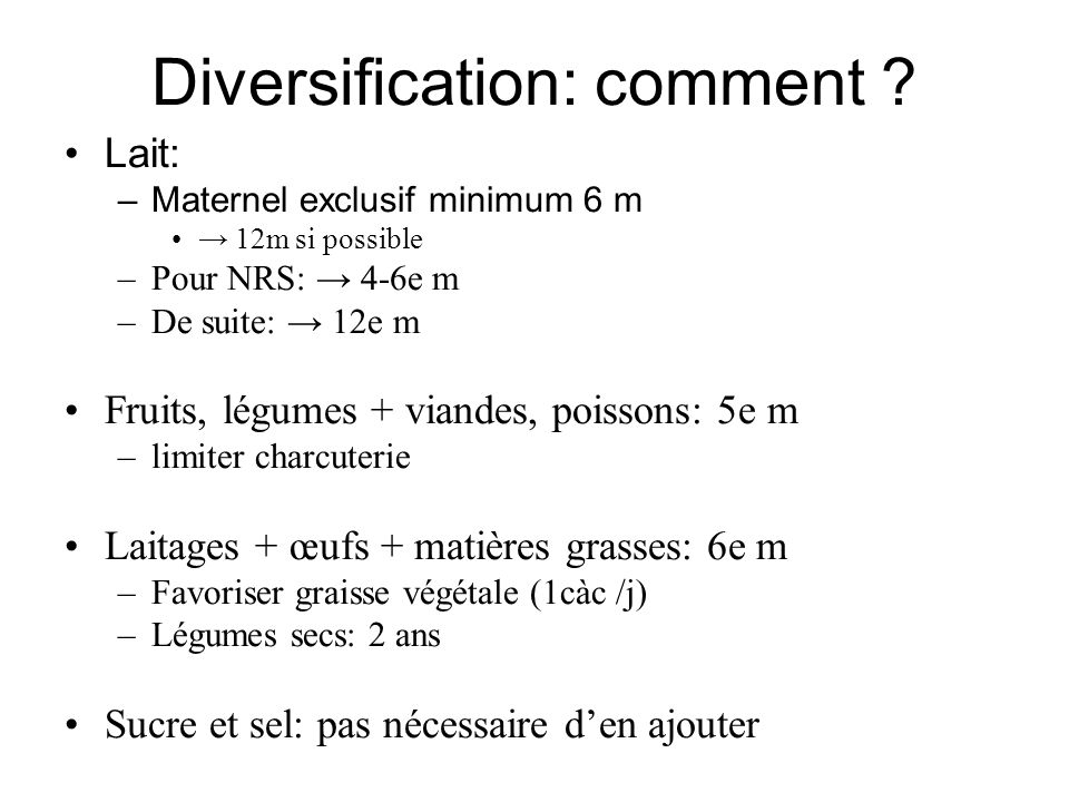 Diversification: comment