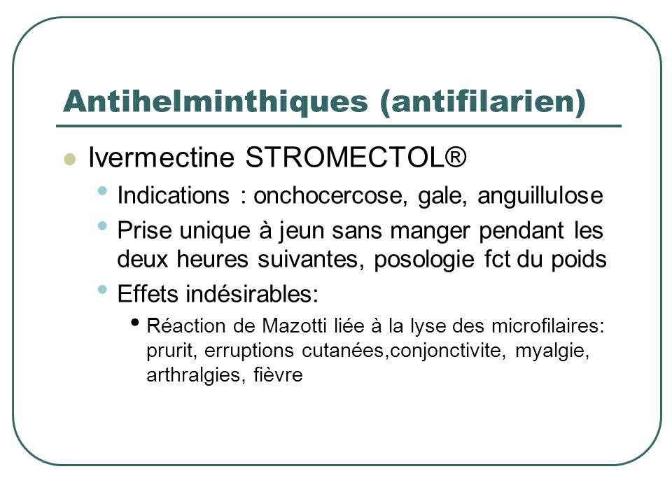 Antihelminthiques (antifilarien)