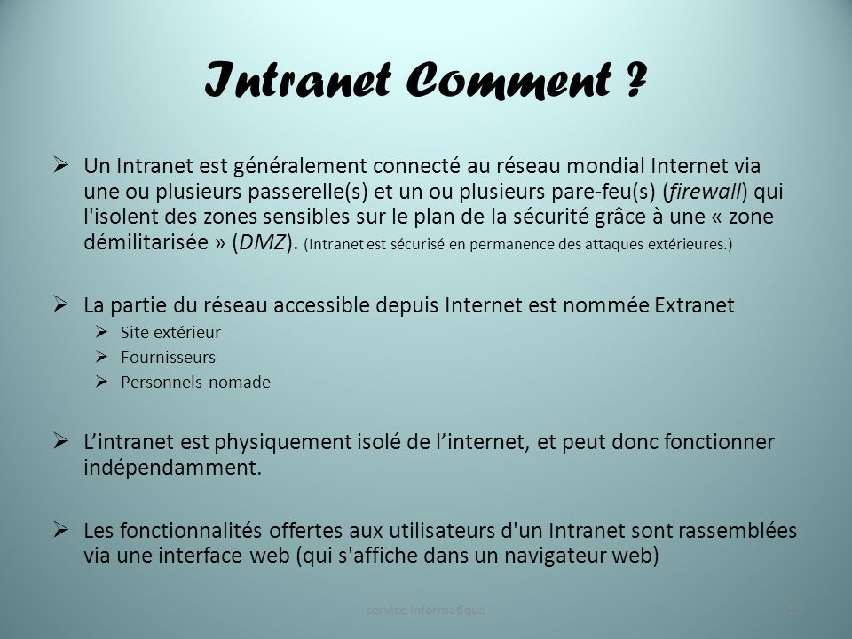 Intranet Comment