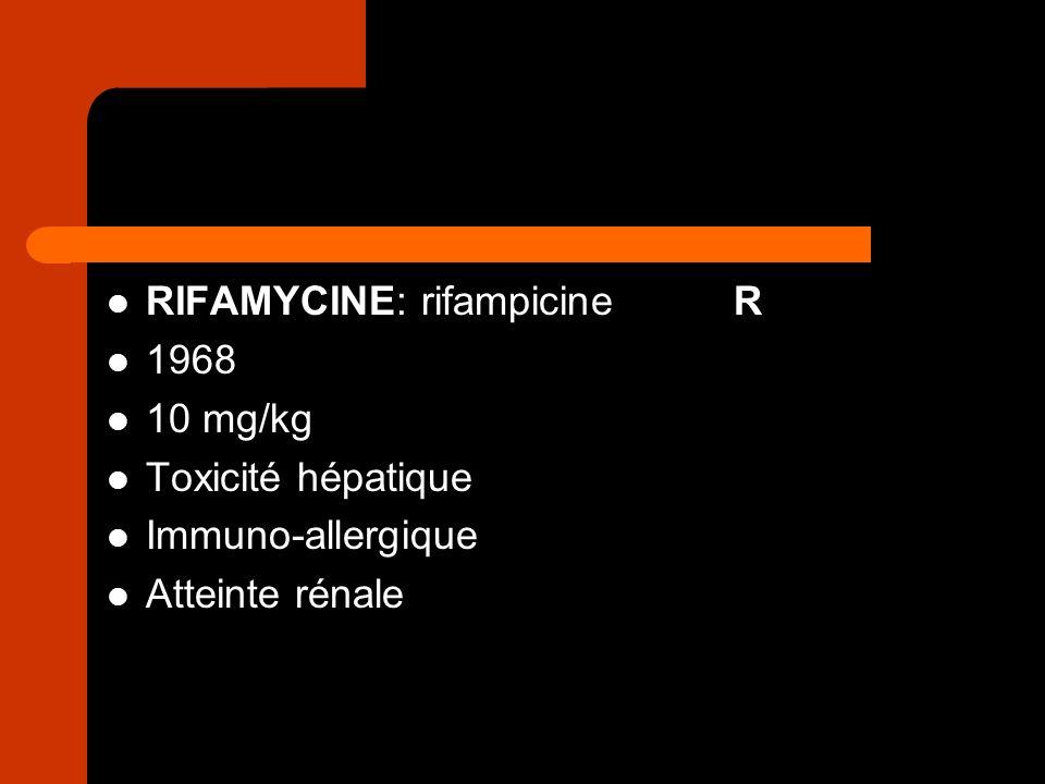 RIFAMYCINE: rifampicine R