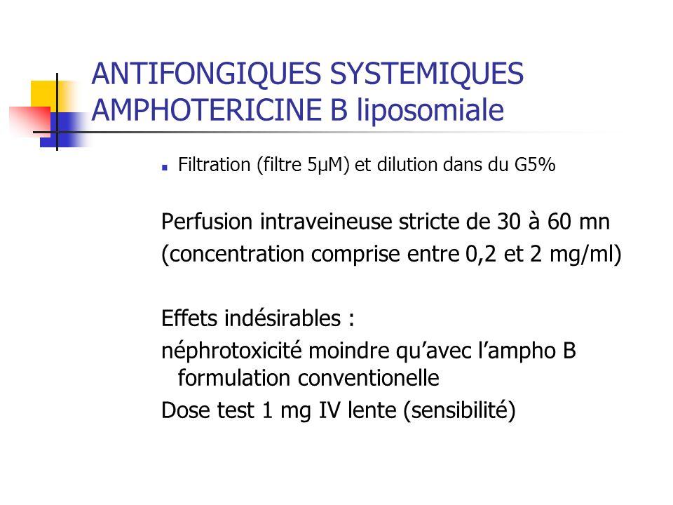 ANTIFONGIQUES SYSTEMIQUES AMPHOTERICINE B liposomiale