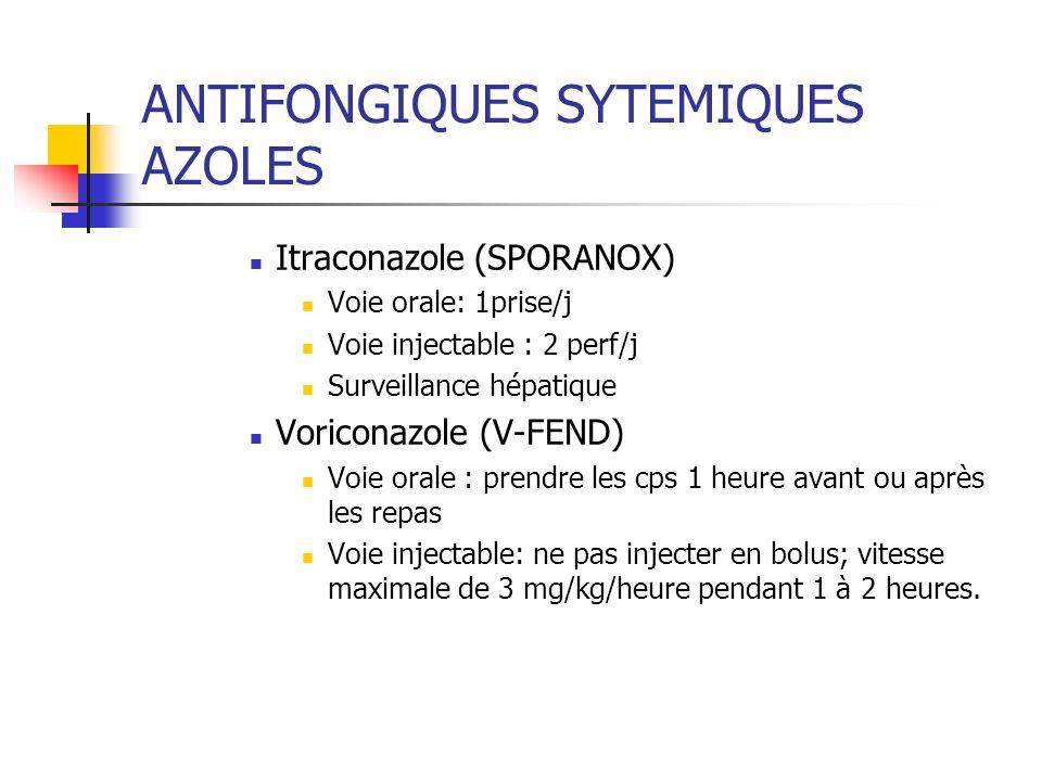 ANTIFONGIQUES SYTEMIQUES AZOLES