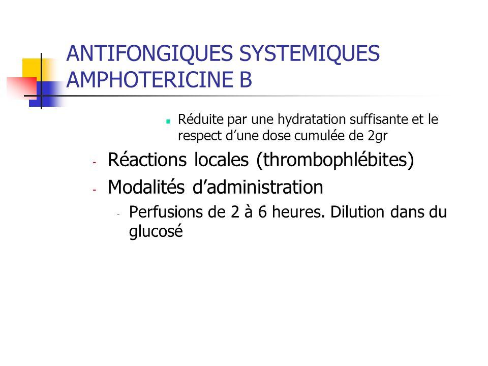 ANTIFONGIQUES SYSTEMIQUES AMPHOTERICINE B