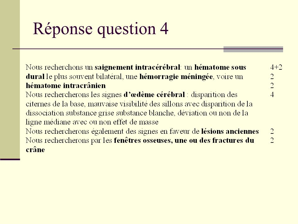 Réponse question 4