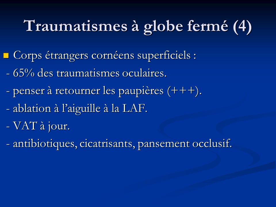 Traumatismes à globe fermé (4)