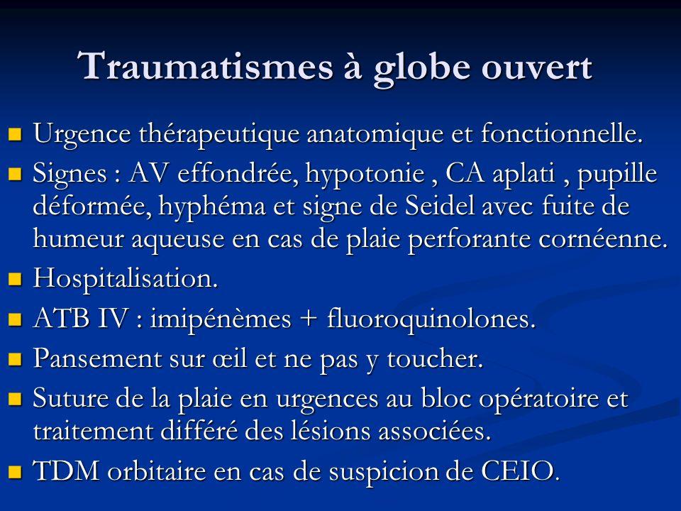 Traumatismes à globe ouvert