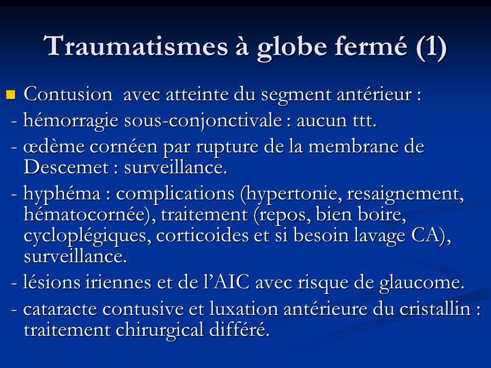 Traumatismes à globe fermé (1)