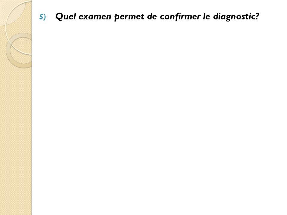 Quel examen permet de confirmer le diagnostic