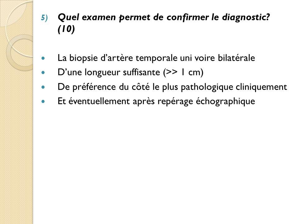 Quel examen permet de confirmer le diagnostic (10)