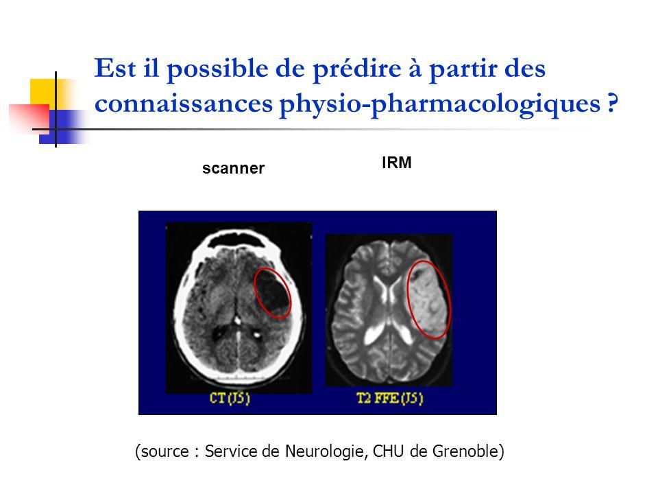 Est il possible de prédire à partir des connaissances physio-pharmacologiques