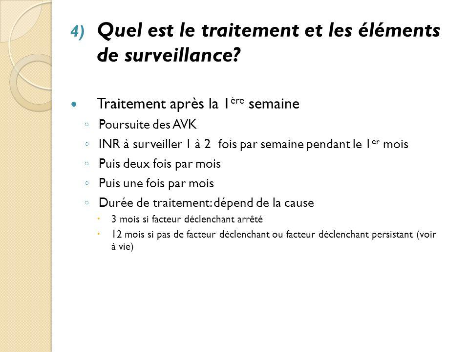 Quel est le traitement et les éléments de surveillance