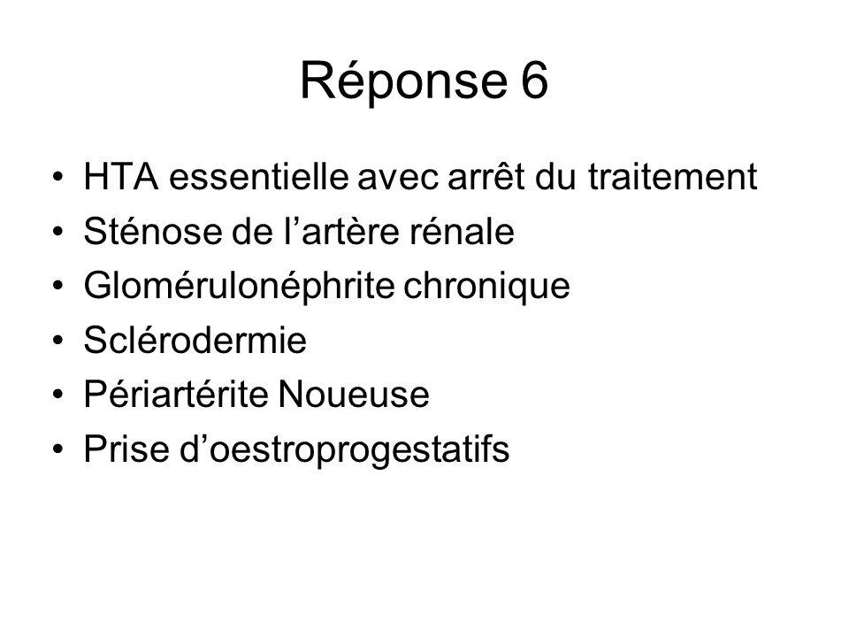 Réponse 6 HTA essentielle avec arrêt du traitement