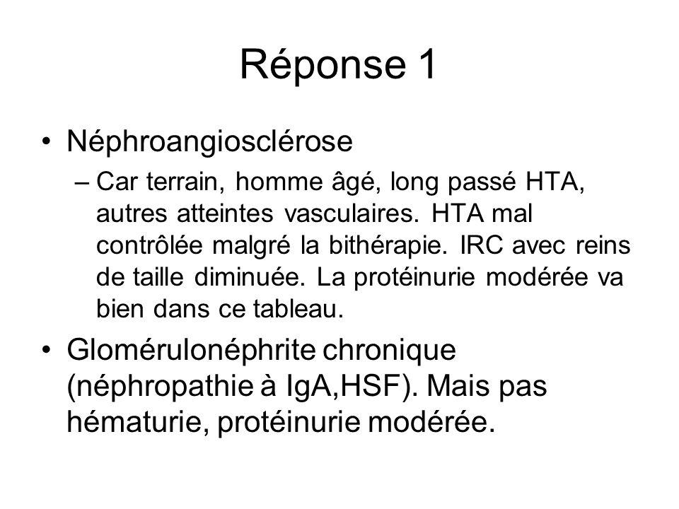 Réponse 1 Néphroangiosclérose