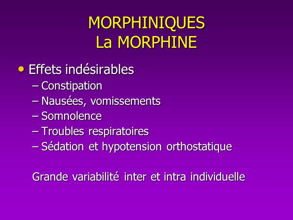 MORPHINIQUES La MORPHINE