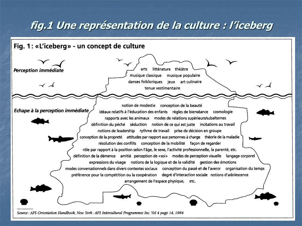 fig.1 Une représentation de la culture : l'iceberg