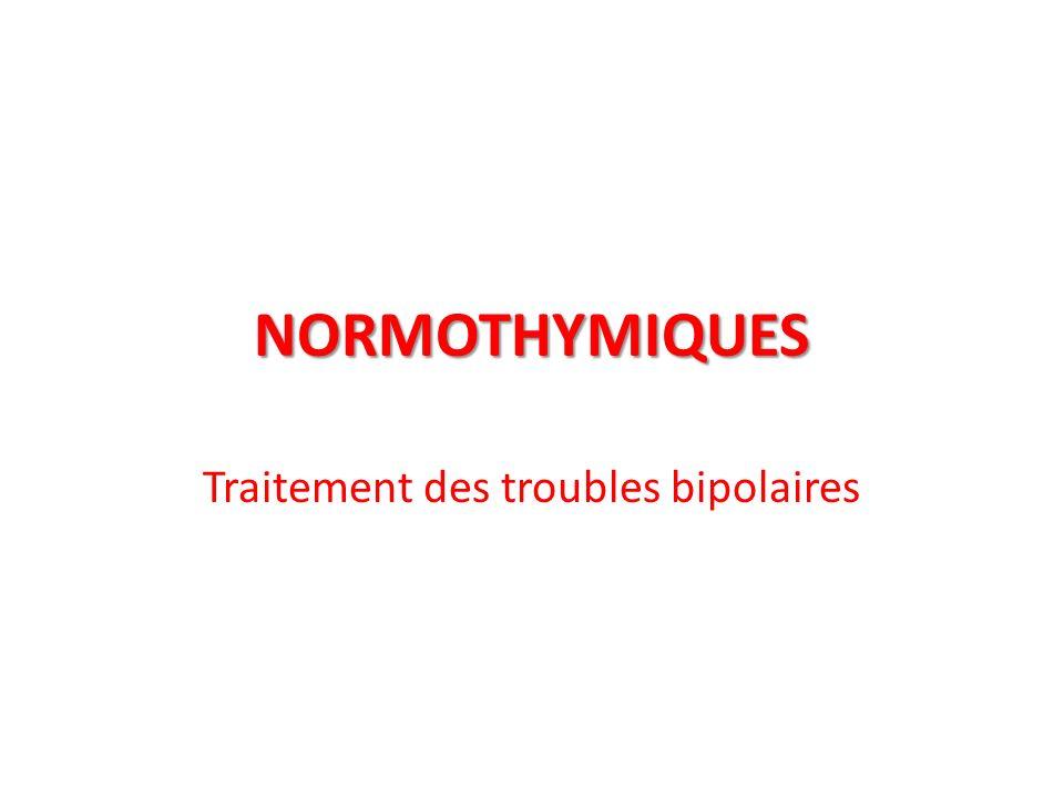 Traitement des troubles bipolaires
