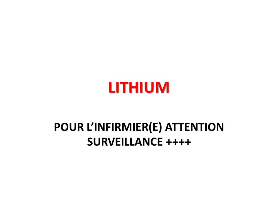 POUR L'INFIRMIER(E) ATTENTION SURVEILLANCE ++++