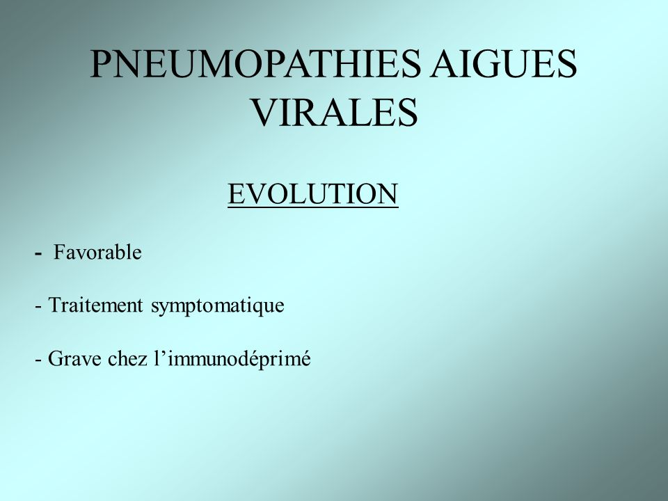 PNEUMOPATHIES AIGUES VIRALES