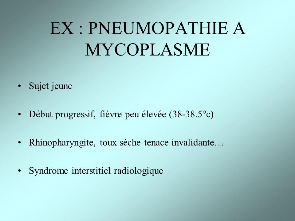 EX : PNEUMOPATHIE A MYCOPLASME