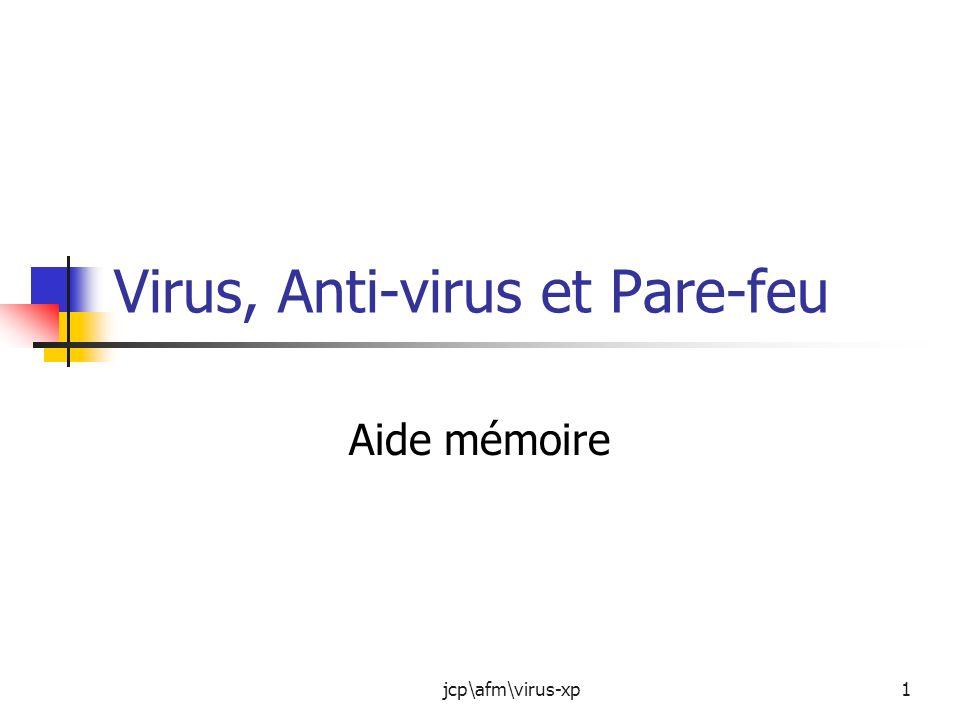 Virus, Anti-virus et Pare-feu