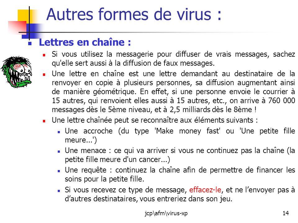 Autres formes de virus :