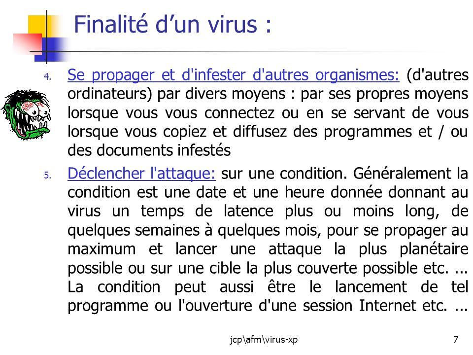 Finalité d'un virus :